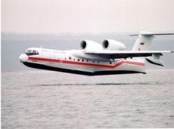На дежурство заступил первый самолет-амфибия Бе-200ЧС