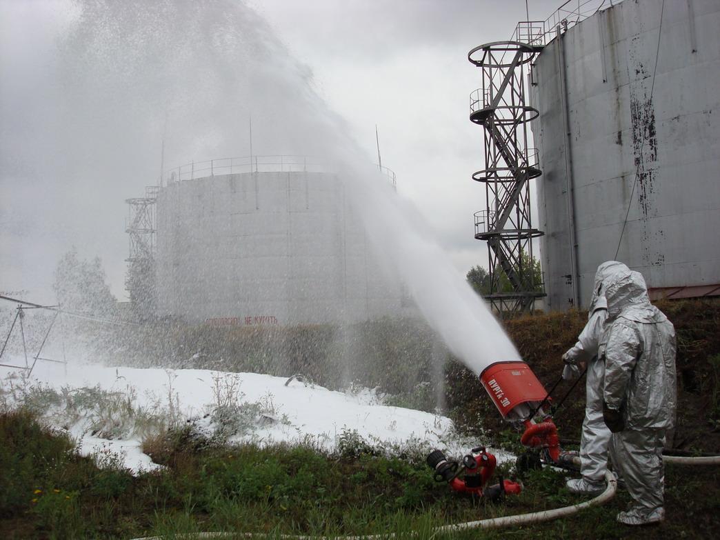 Тактико-специальное учение в резервуарном парке склада топлива Ивановского отделения Северной железной дороги