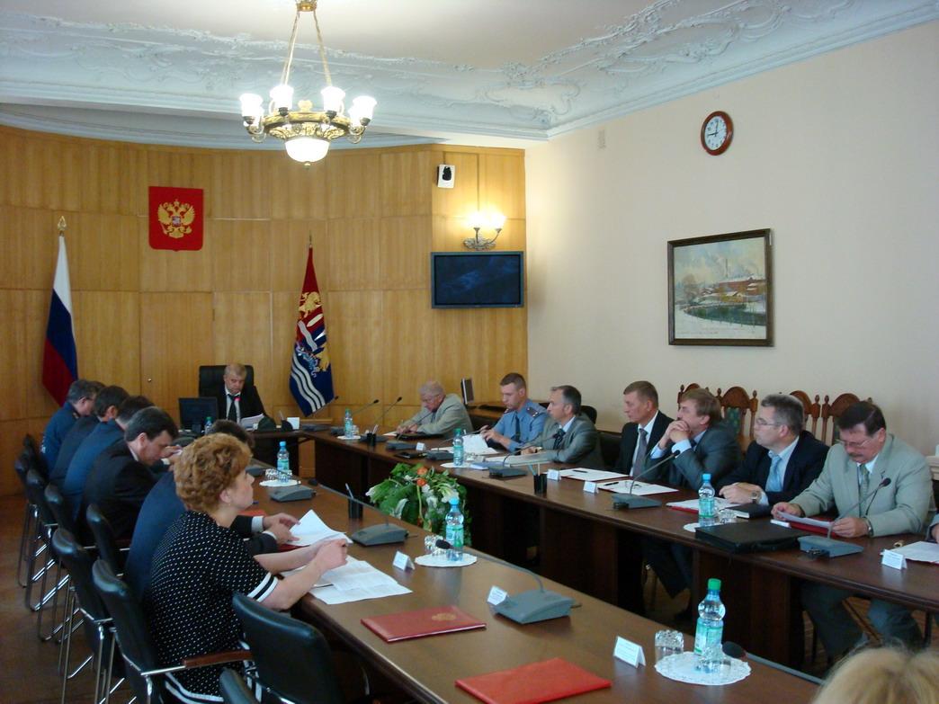 Очередное заседание комиссии по предупреждению и ликвидации чрезвычайных ситуаций и обеспечению пожарной безопасности Ивановской области