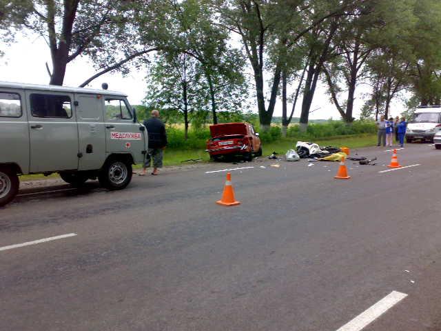 Уточнённая информация ДТП в Курчатовском районе между с.Чапли и п.Карла-Либкнехта
