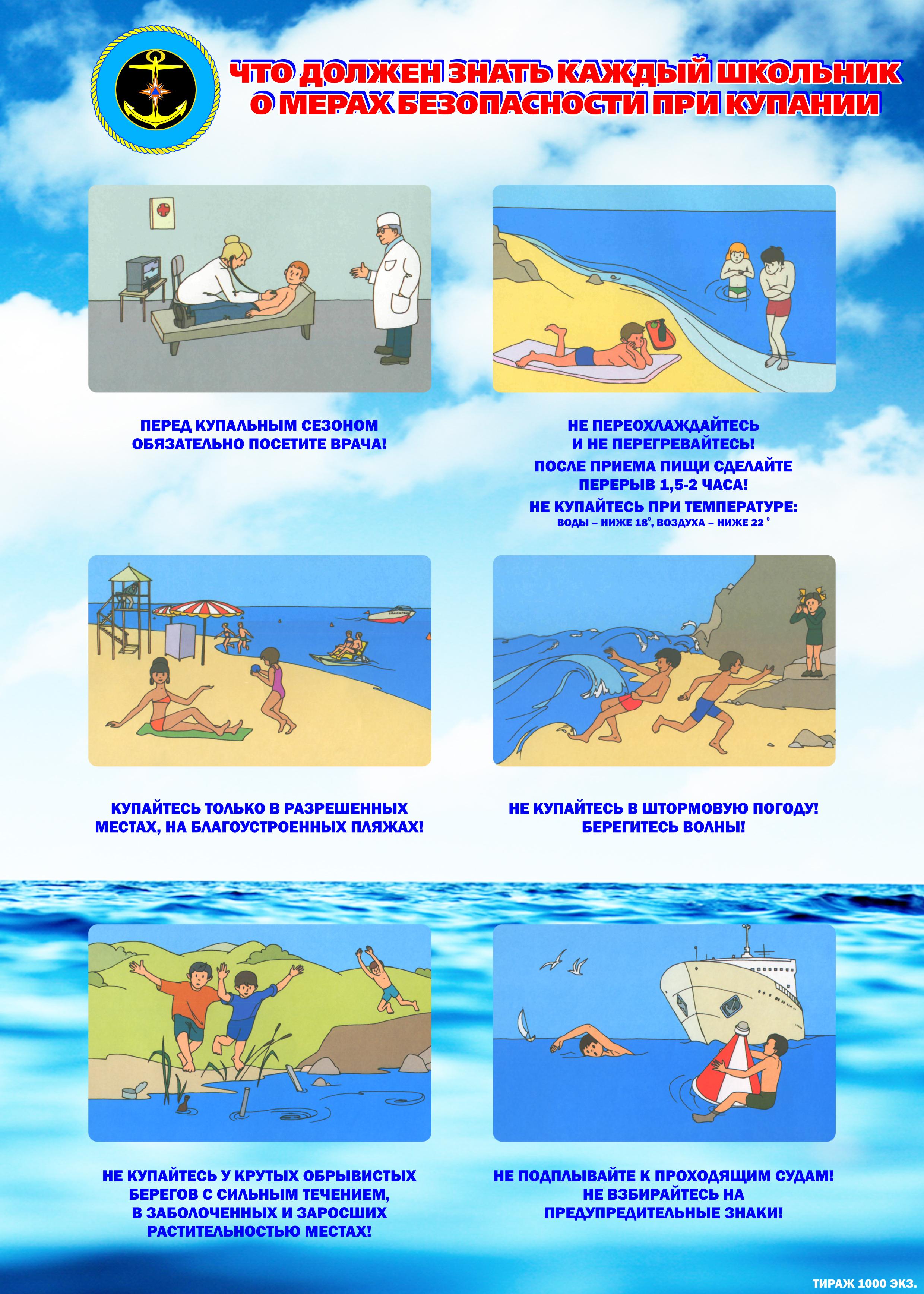 Безопасность отдыха на воде для детей