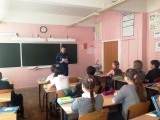 Урок по пожарной безопасности провели сотрудники пожарного надзора Подольского района