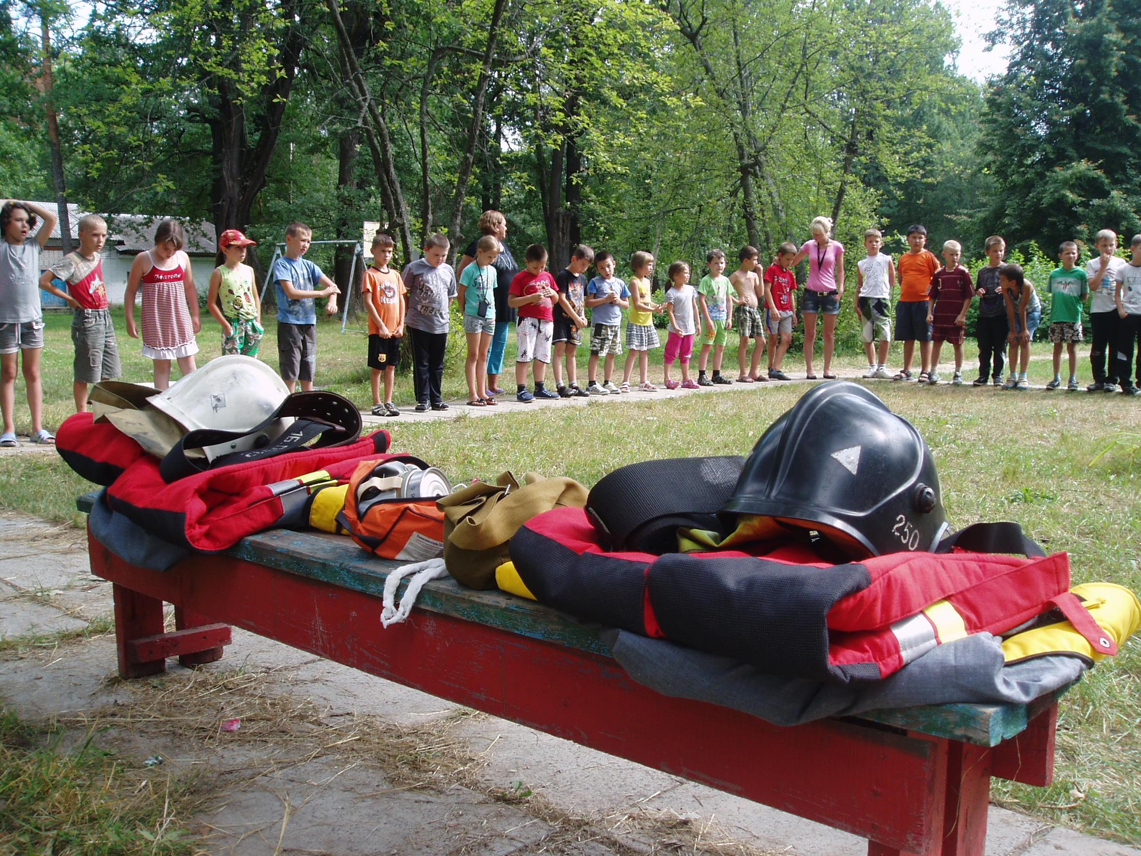 «День пожарной безопасности» в детском оздоровительном лагере «Дружный» Орехово-Зуевского района