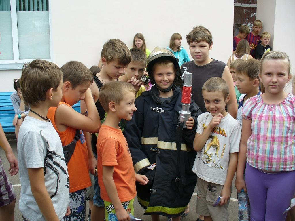 В детском оздоровительном лагере «Ленинские искры» был проведен «День юного пожарного»