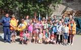 Спасатели водно-спасательных станций Коломенского территориального управления ГКУ МО «Мособлпожспас» организовали для маленьких жителей Коломны «Водный фейерверк»