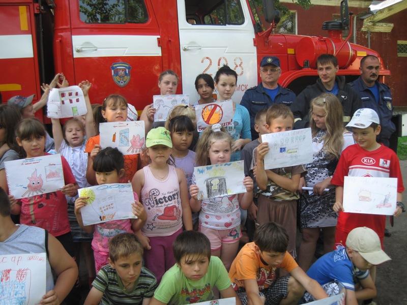 В гости на пожарной машине