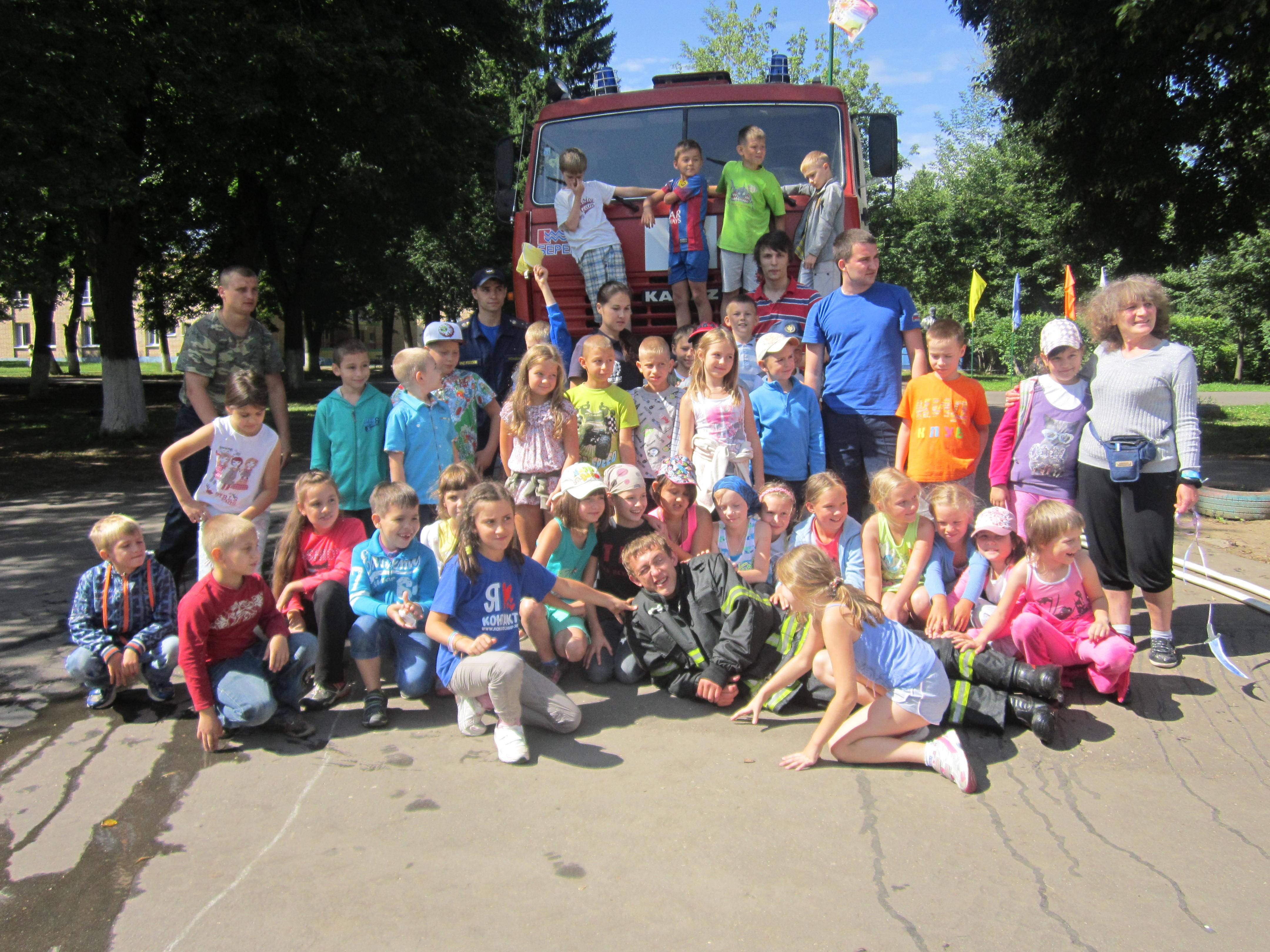 В день 86-летия Государственного пожарного надзора России сотрудники отдела надзорной деятельности по Ленинскому району провели день пожарной безопасности в лагере «Салют»