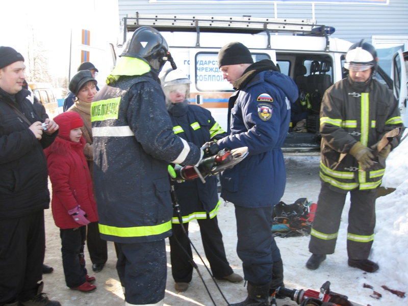 Школьники в гостях у спасателей