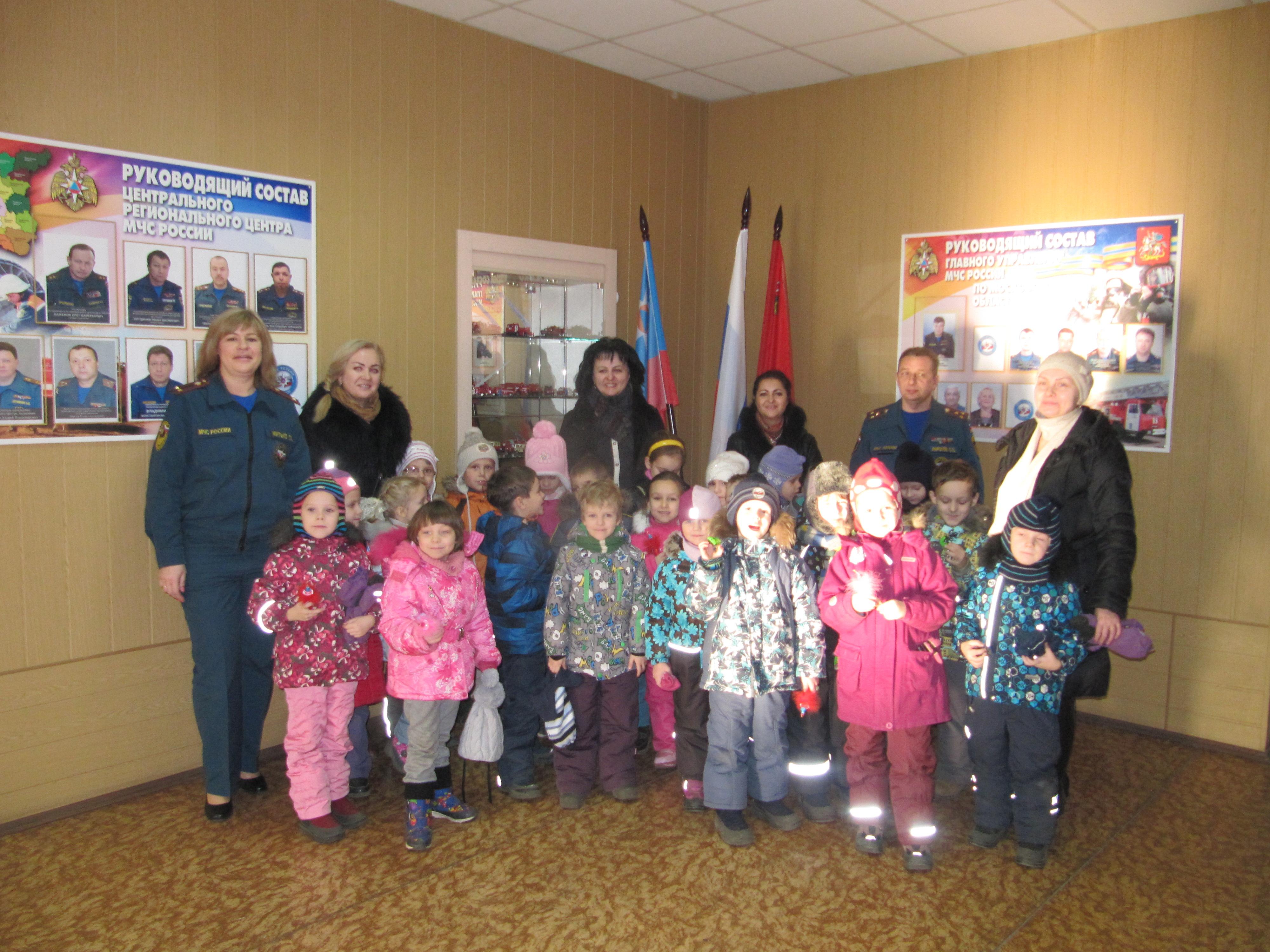 Воспитанники детского сада «Одуванчик» побывали в гостях у пожарных