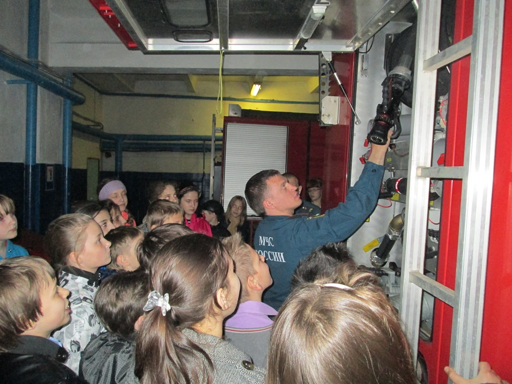 Школьники Одинцовского района побывали в гостях у пожарных