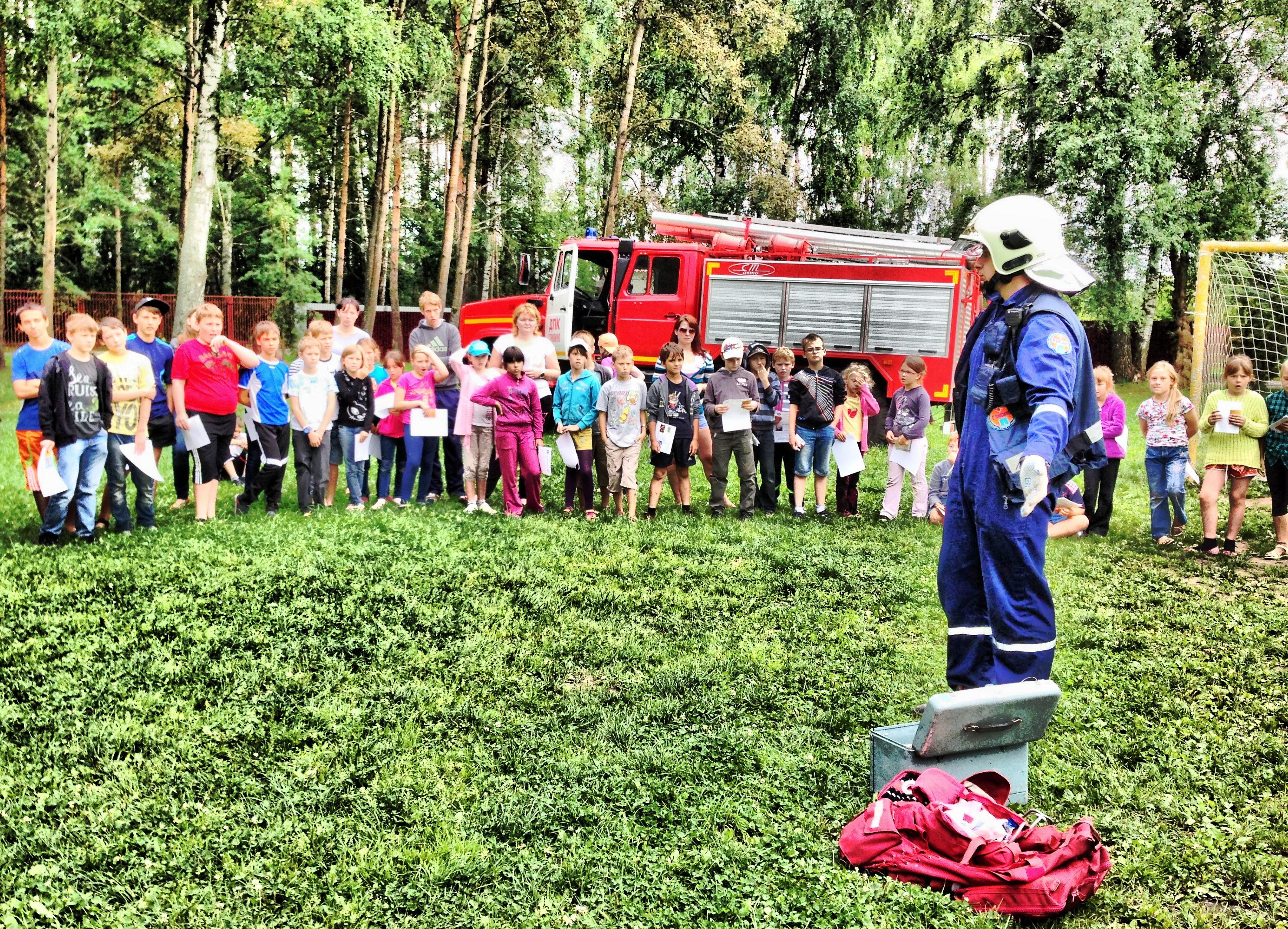 «День юного пожарного» в «Ленинских искрах»
