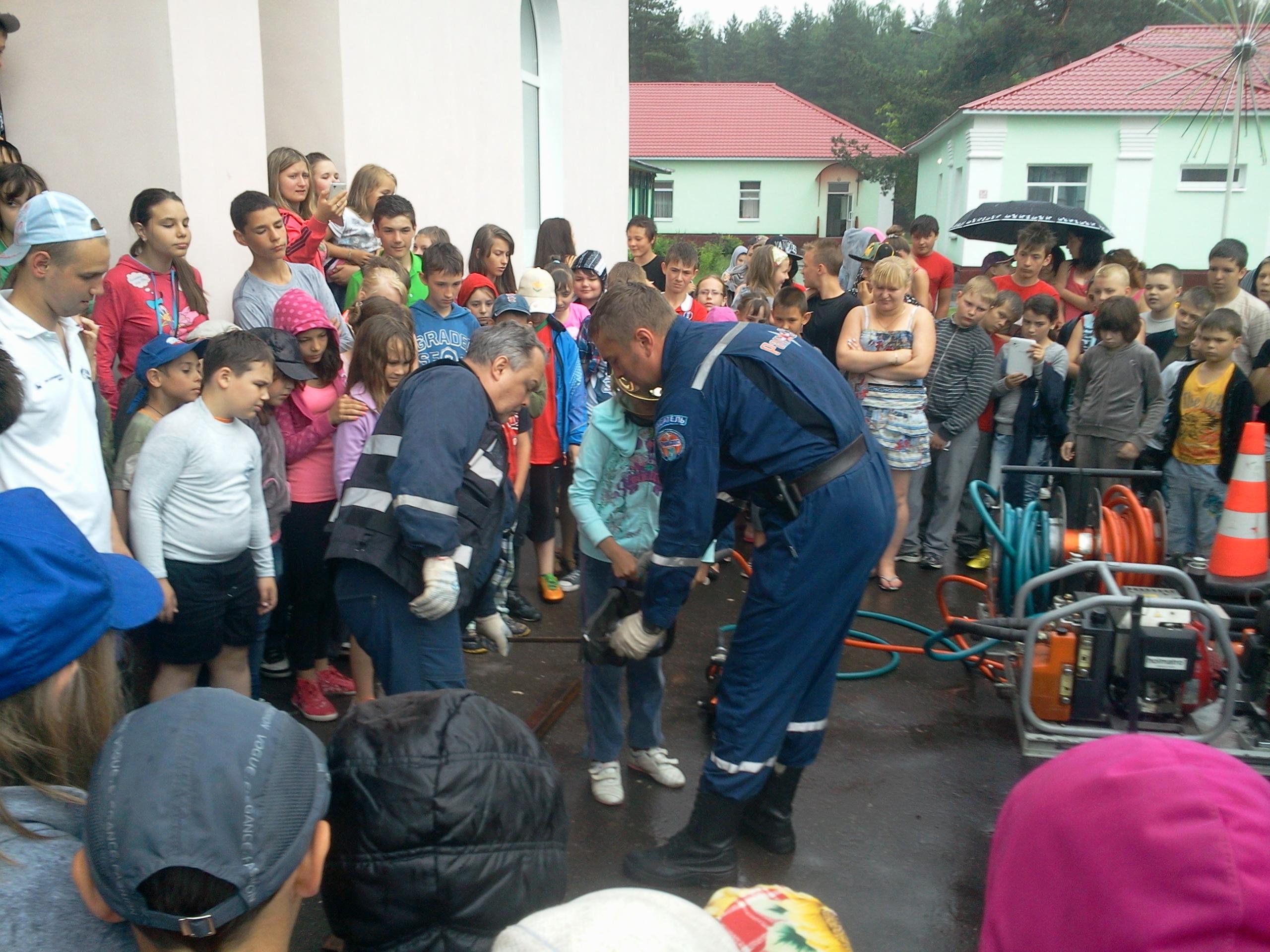 «День пожарной безопасности» в лагере «Ленинские искры» Раменского района