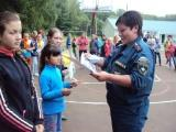 День юного пожарного прошел в детском лагере «Осетр»
