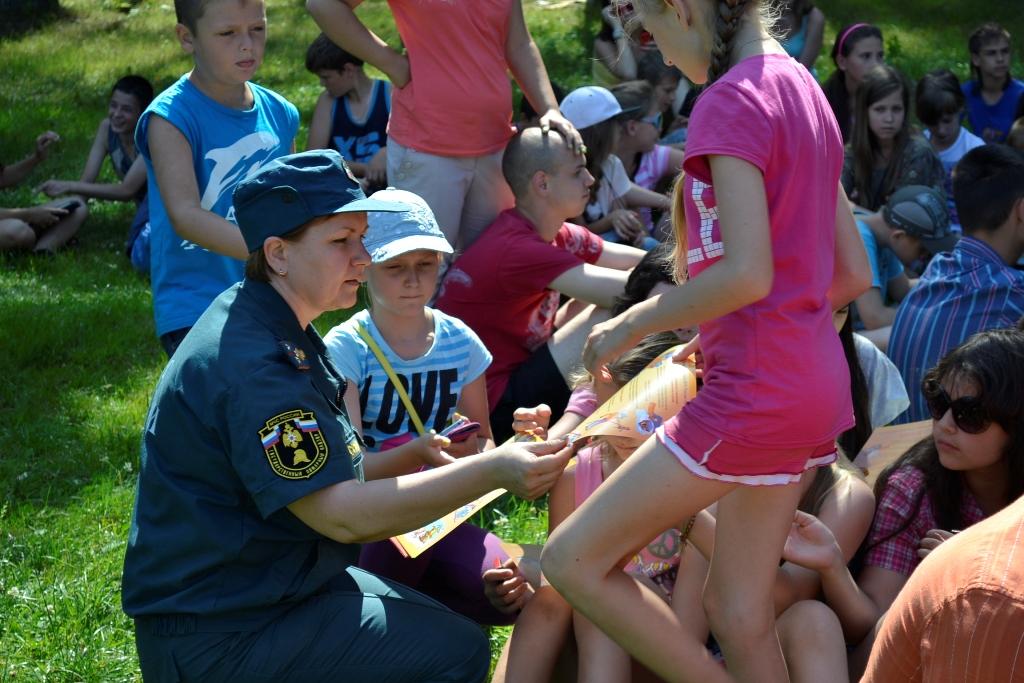 День пожарной безопасности в детском оздоровительном лагере «Ленинские искры»