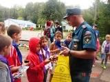 День юного пожарного в лагере «Осетр»