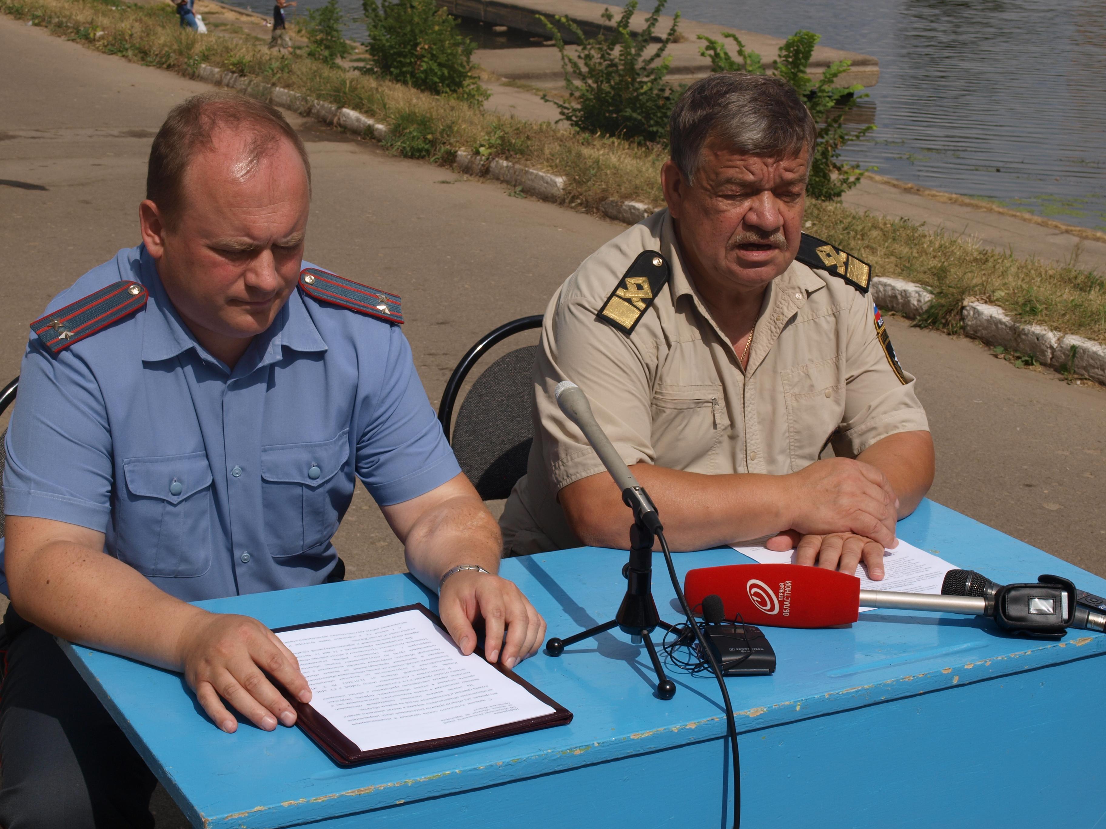 Сотрудники орловского МЧС и полиции вместе  обеспечивают безопасность на воде