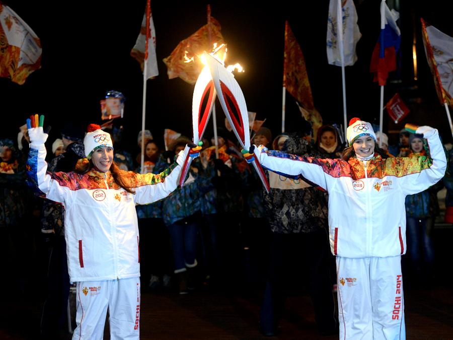 Эстафета Олимпийского огня в Орле прошла без происшествий