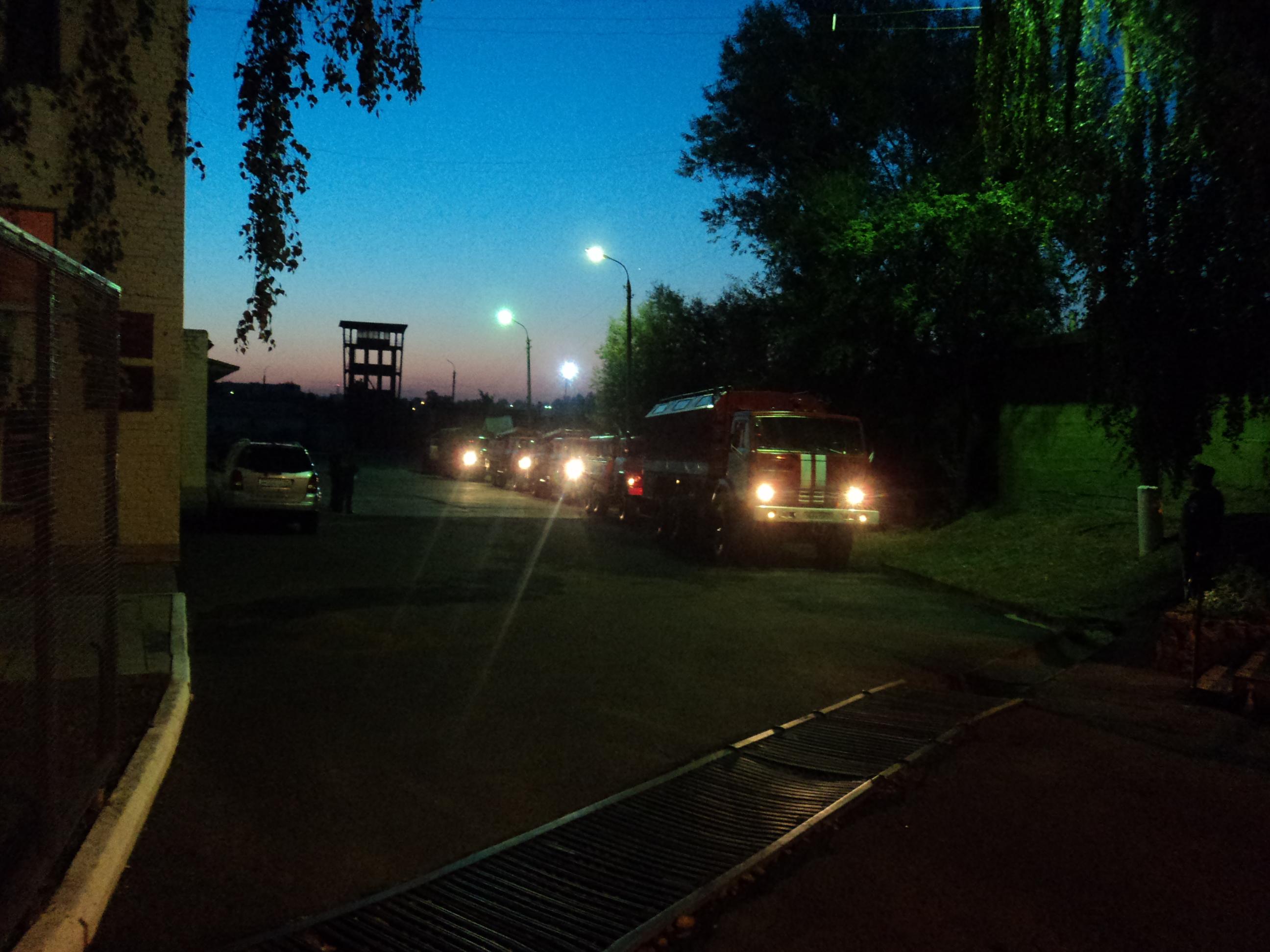 Орловские пожарные отправились помогать тверским коллегам