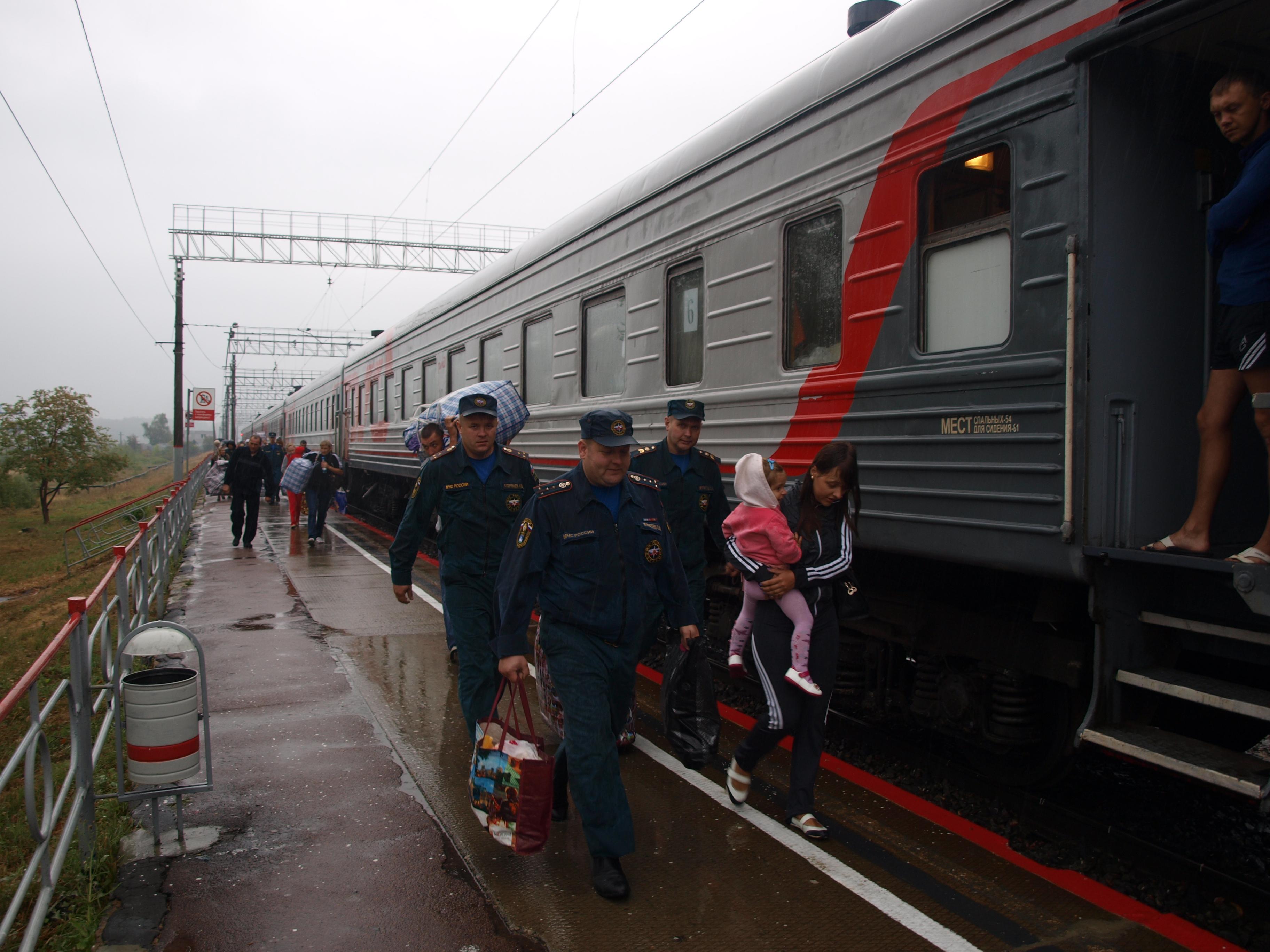 На Орловщину прибыли жители Луганска и Донецка