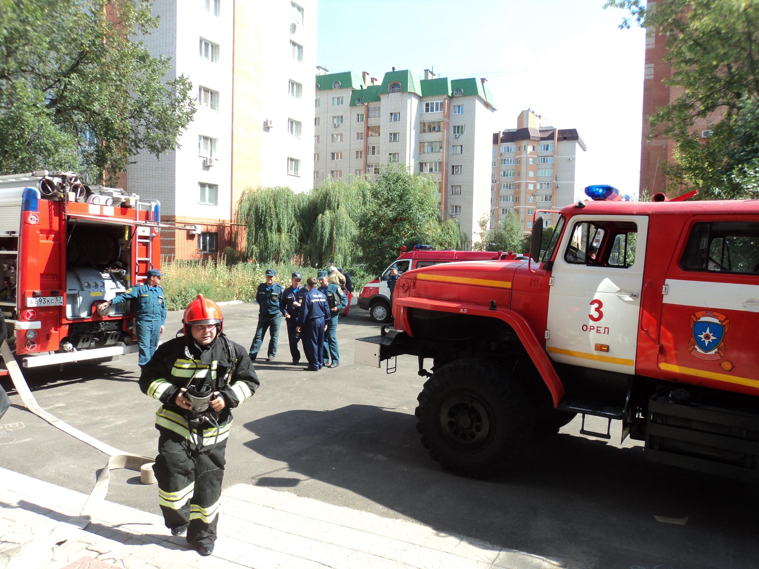 Условный пожар ликвидировали в Орловском кукольном театре