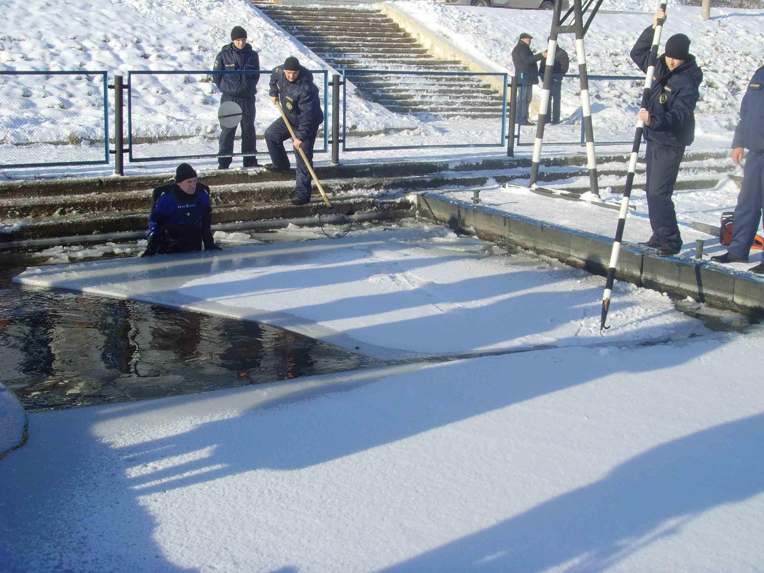 В городе Орле началось обустройство места для крещенских купаний