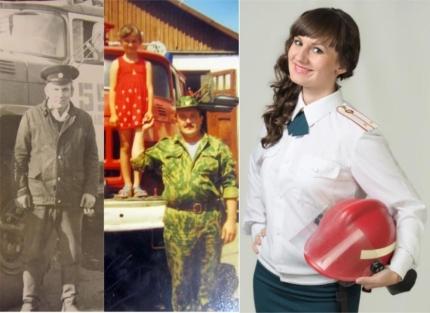Три поколения пожарных