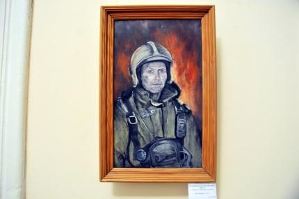 «На написание картин меня вдохновляет работа» - начальник пожарной части по охране села Путятино Игорь Корякин представил свои картины в центре народного творчества в городе Рязани