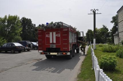 Тренировка по эвакуации Шиловского дома интерната