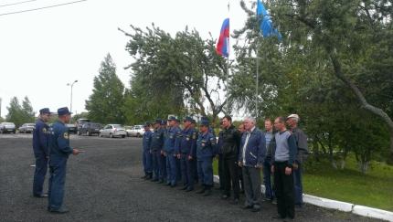 Соревнования среди команд добровольной пожарной охраны Путятинского района.