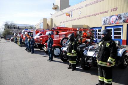 В Рязани прошел автопробег пожарной техники