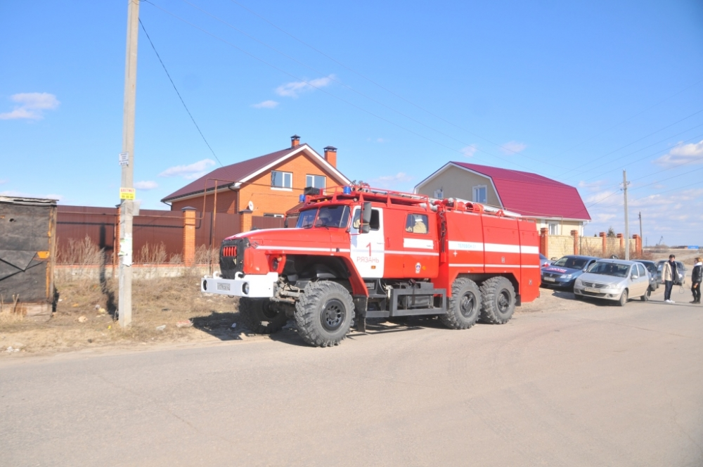 Профилактическая акция по недопущению палов травы в поселке Борки города Рязань