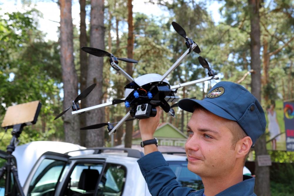 Специалисты МЧС провели авиамониторинг лесных массивов в Рязанском районе и у поселка Солотча