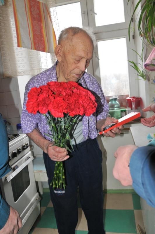 Поздравление  с днем рождения ветерана Великой отечественной войны, ветерана гражданской обороны Буданова Михаила Никитовича!