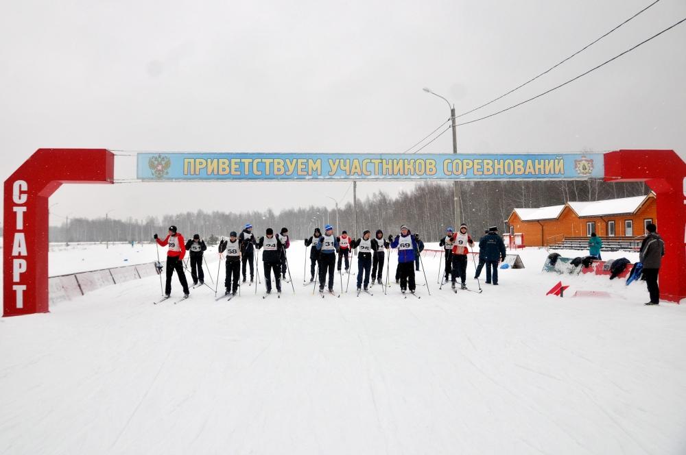 Соревнования по лыжным гонкам среди подразделений Главного управления МЧС России по Рязанской области