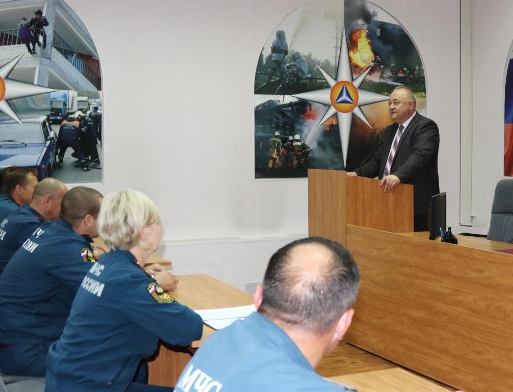 В Главном управлении МЧС России по Рязанской области прошло торжественное собрание, посвященное 91-ой годовщине образования Государственного пожарного надзора в России