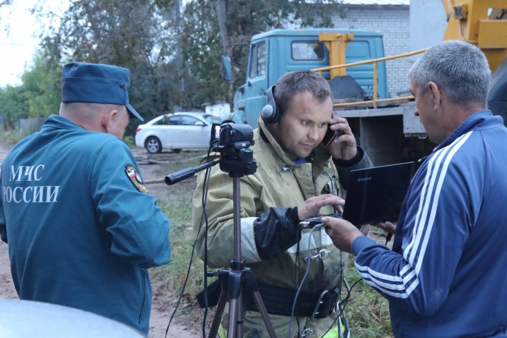 Тушение пожара и устранение его последствий в городе Касимов Рязанской области