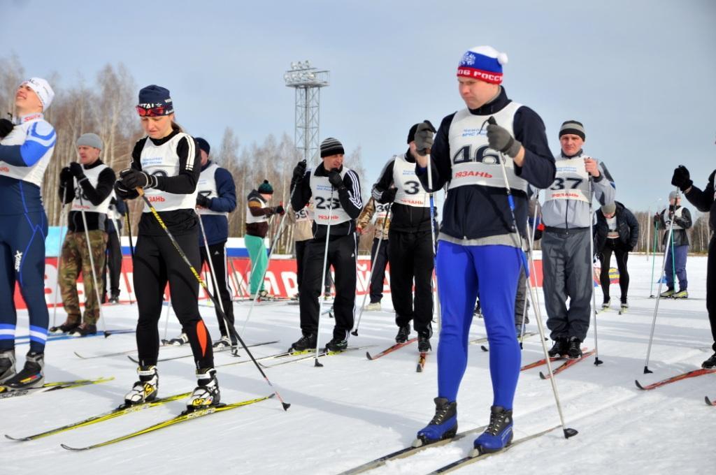 Участие сотрудников Главного управления МЧС России по Рязанской области в лыжной гонке