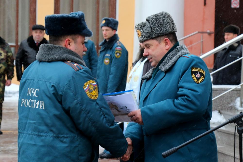 Вручение новой техники подразделениям Главного управления МЧС России по Рязанской области