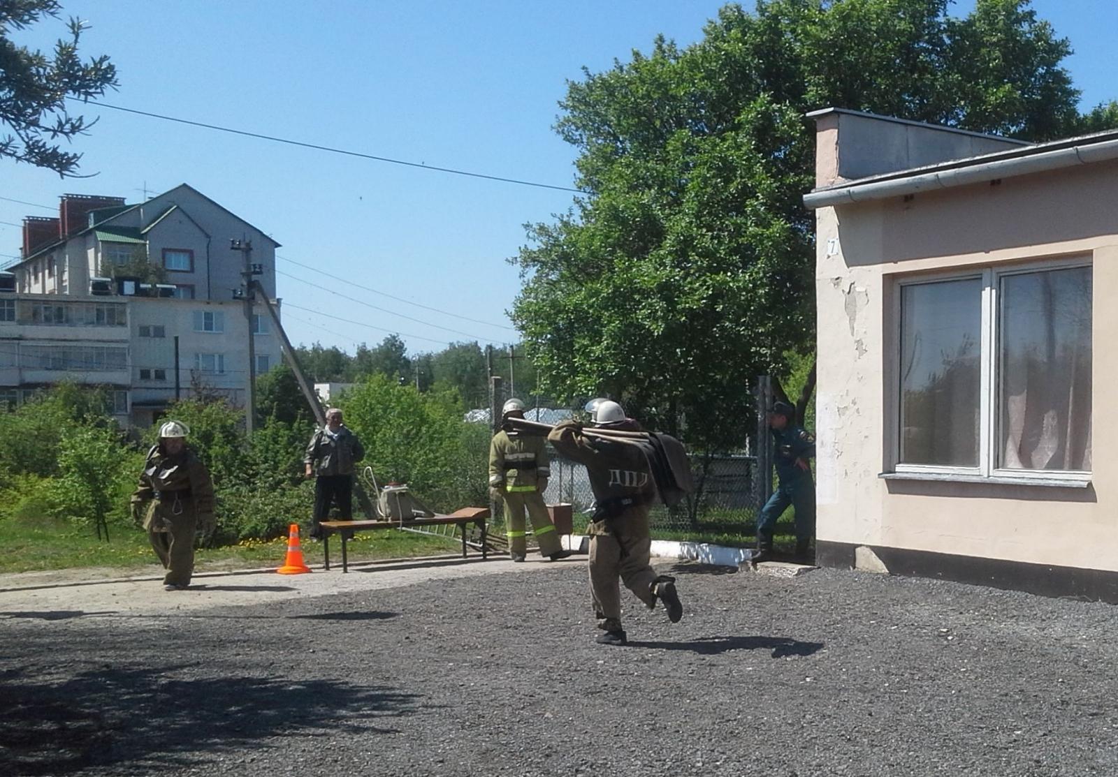 Соревнование в Путятинском районе Рязанской области среди добровольных пожарных дружин