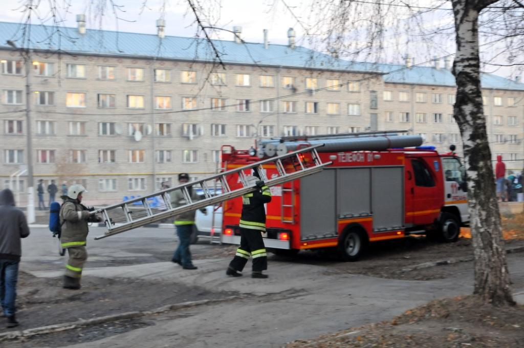 Ликвидация пожара в общежитии Рязанского государственного медицинского университета