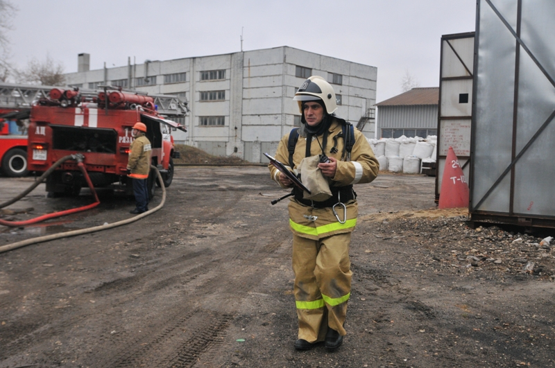 Тренировка на предприятии города Рязани