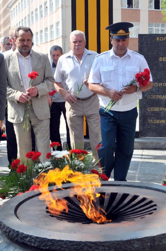 Церемония возложения цветов к Мемориальному комплексу воинам–рязанцам, погибшим в локальных войнах и вооруженных конфликтах