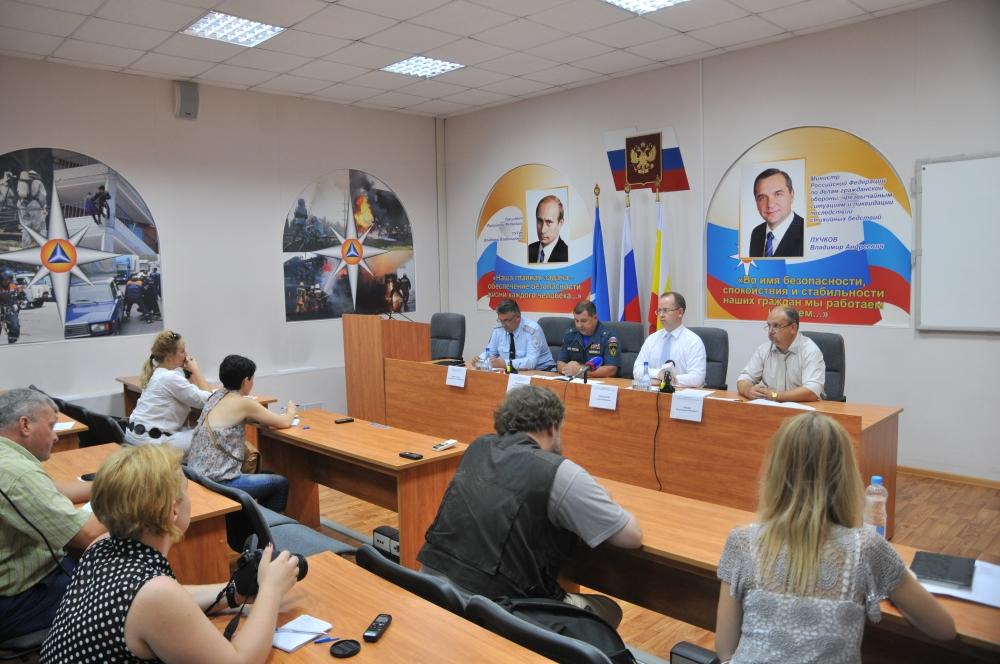 Пресс-конференция в Главном управлении МЧС России по Рязанской области по правилам пожарной безопасности, безопасного отдыха у водоемов.