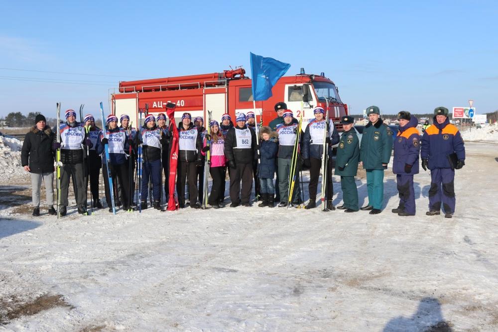 Рязанские спасатели и пожарные приняли участие в 36-х открытых Всероссийских лыжных гонках «Лыжня России - 2018»