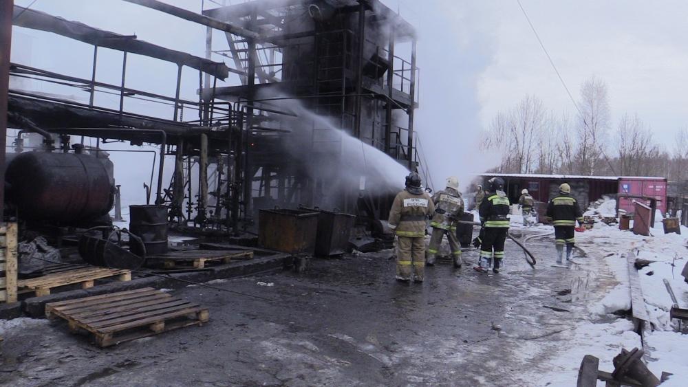 Тушение пожара на улице Ряжское шоссе в городе Рязани