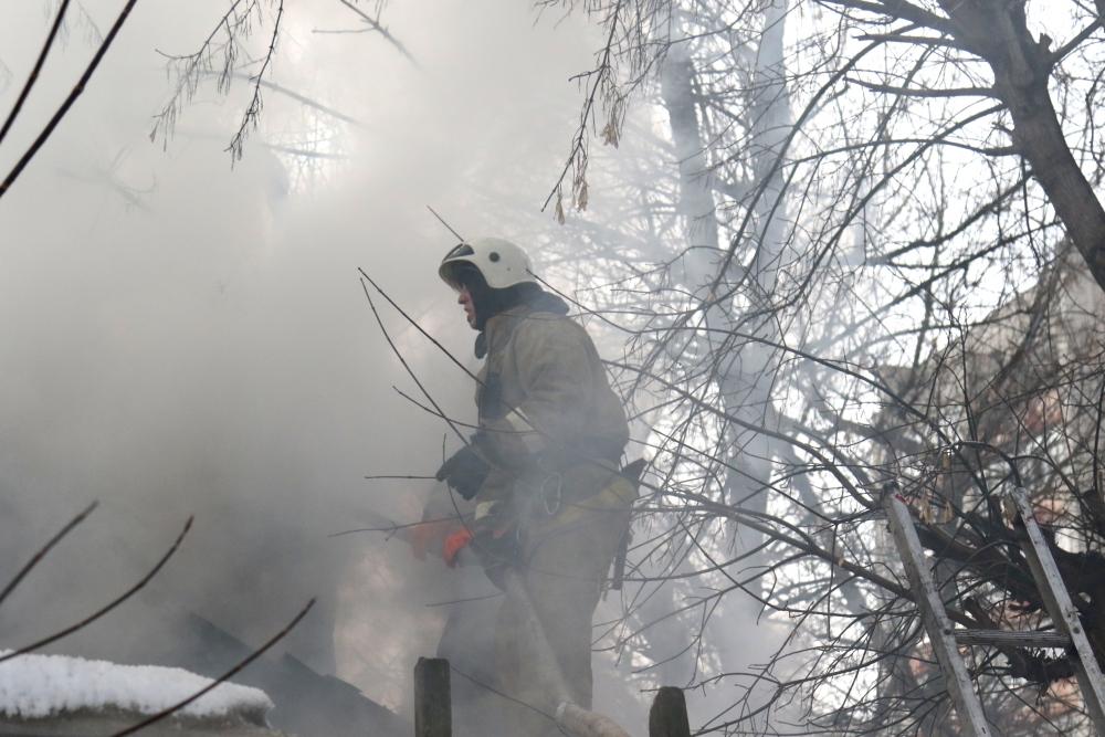 Пожар в городе Рязани
