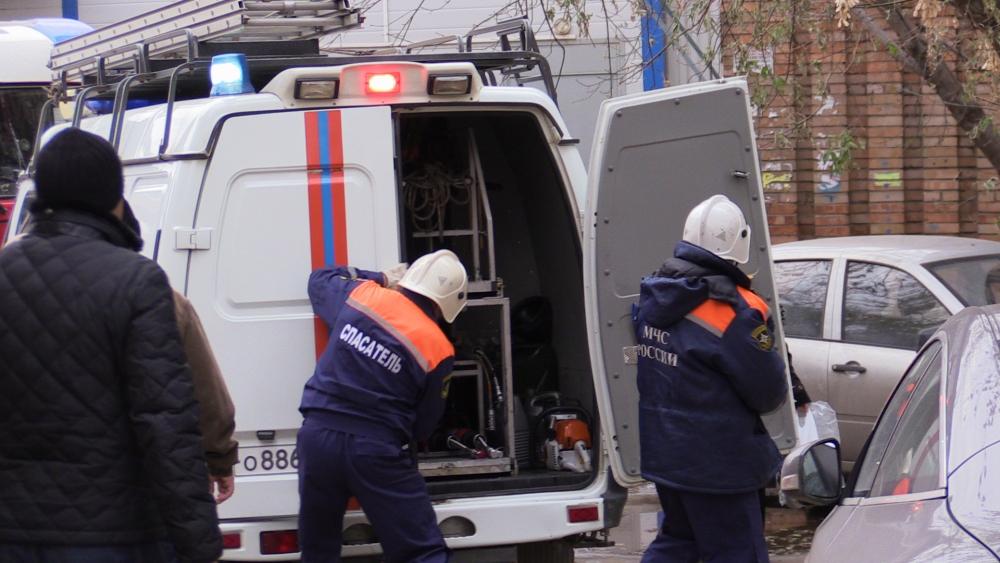 Тушение пожара на улице Либкнехта города Рязани