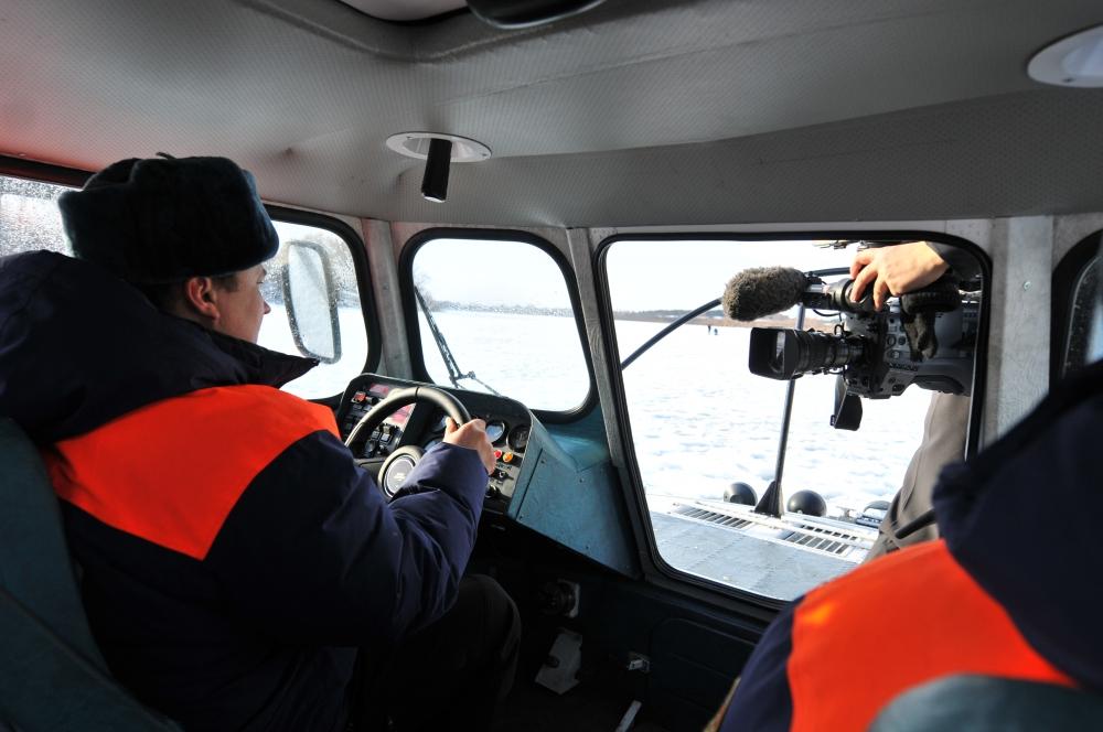 Совместное патрулирование инспекторов ГИМС и средств массовой информации
