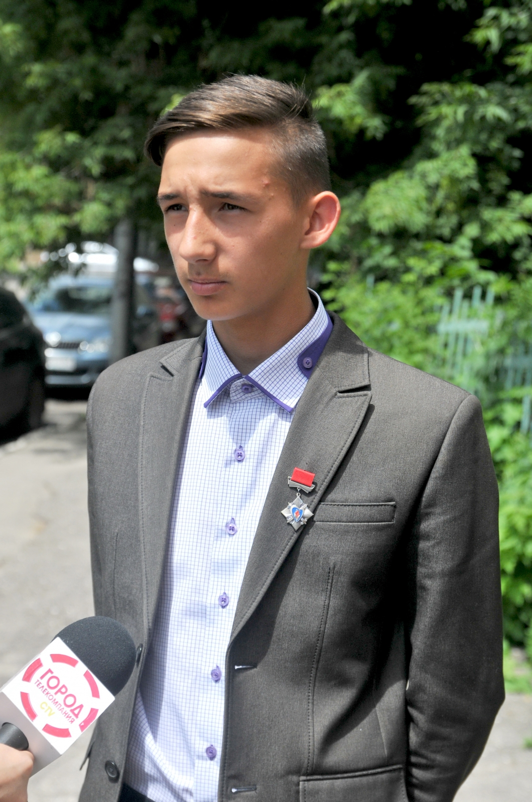 Рязанский школьник удостоен знака «Горячее сердце»