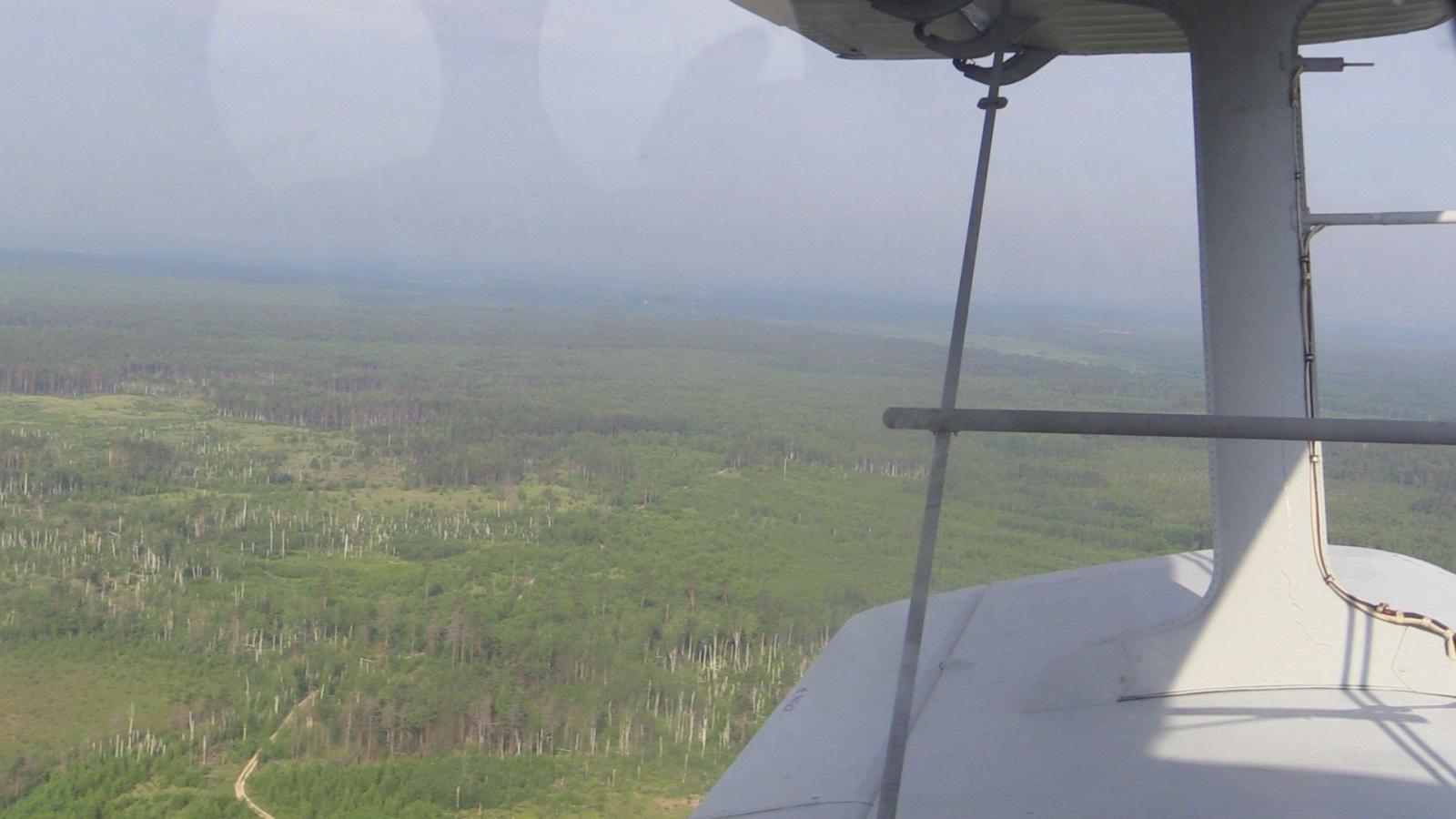 Авиапатрулирование пожароопасных районов региона
